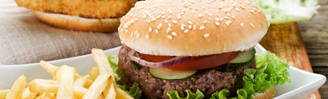 | Burger mit Rindfleisch